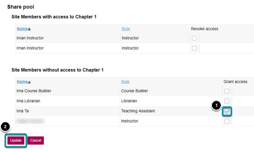 Grant access.