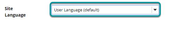 Select site language.