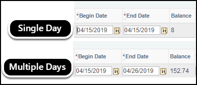 end date options