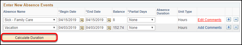 calculate duration