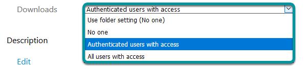 Update download options