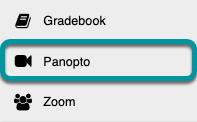 Select the Panopto tool