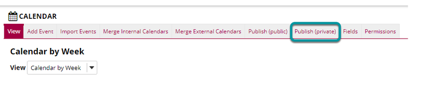 Select Merge Internal Calendars.