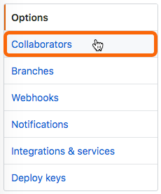 Select Collaborators from the left sidebar