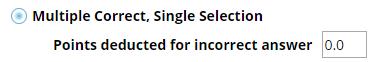 Multiple Correct, Single Selection