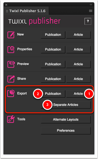 Export from InDesign