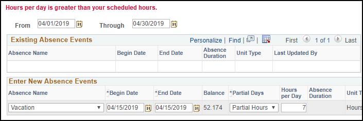 hours per day error sample