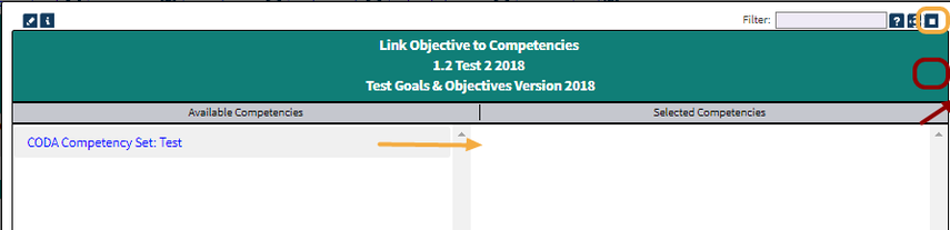 Step 9: Select the competencies you would like to link to your objective