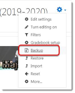 Select Backup.