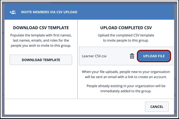 Click Upload File button