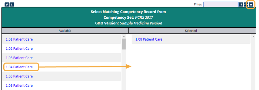 Step 2b: Link CIP Competencies to Standard Competencies