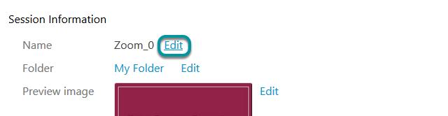 Select Edit.