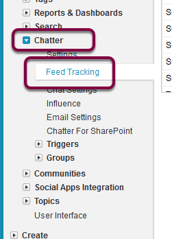 Navigate to Setup > Customize > Chatter > Feed Settings