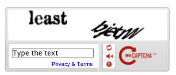Check the appearance of the CAPTCHA theme