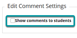 Edit the comment settings.