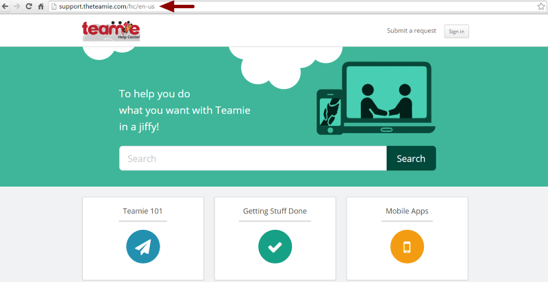 Setting up an account with Teamie Help Center