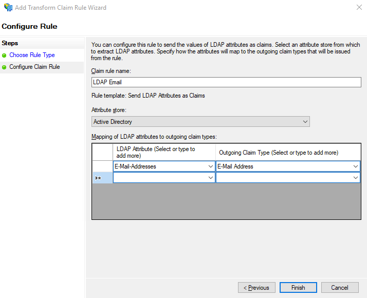 Configure LDAP Email Rules