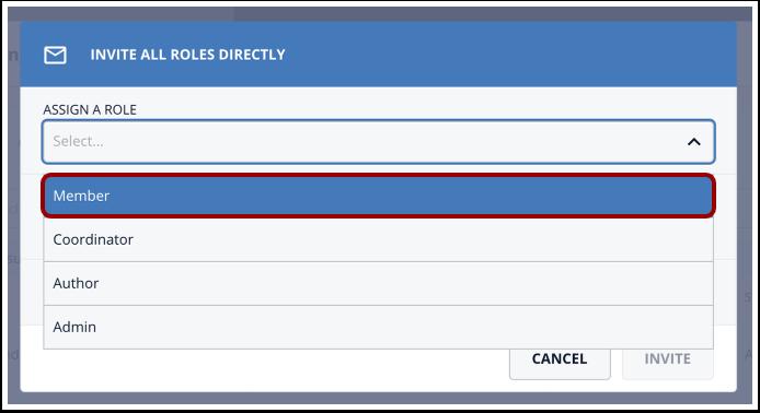 Click Member option