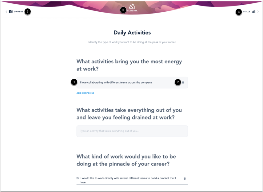 Enter Daily Activities