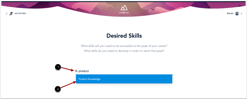 Search for Desired Skill