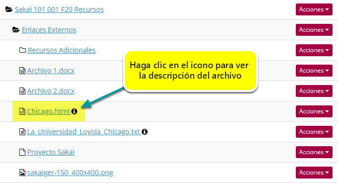 Vea el archivo HTML en Recursos (Resources).