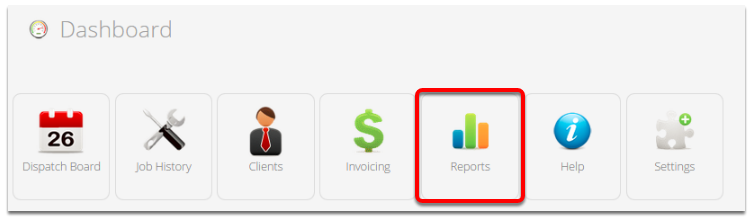In the Dashboard, click Reports