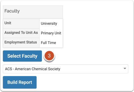 Step 3 - Select Faculty and Build Record