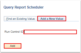 Query Report Scheduler add a new value
