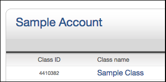 Click on the class name for the assignments you wish to access