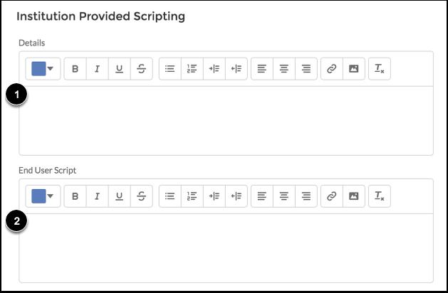 Enter Institution-Provided Scripting