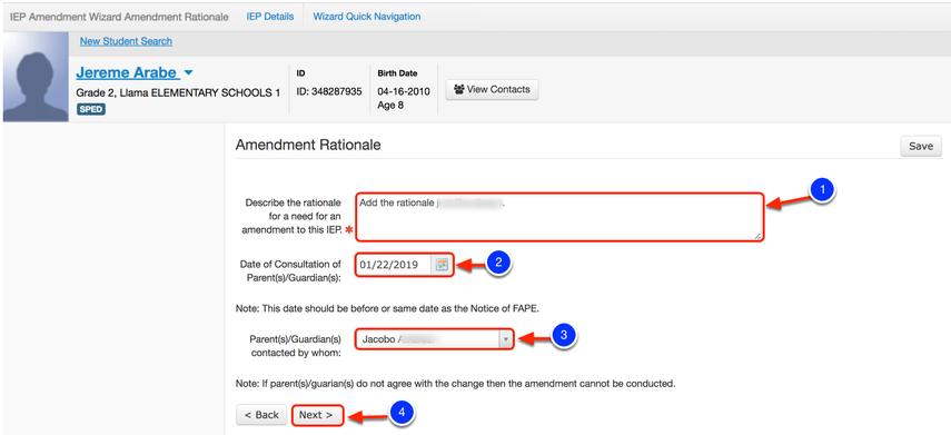 Input Amendment Rationale
