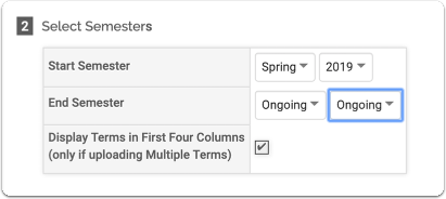 Faculty Classifications Upload Options