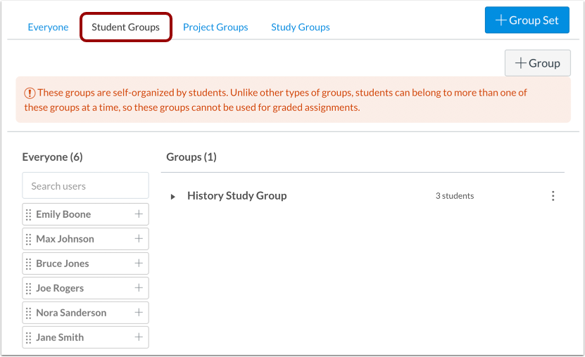 View Student Groups