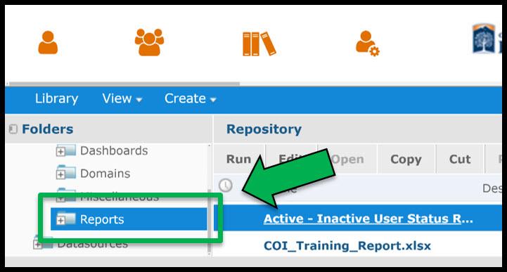 Reports Folder location