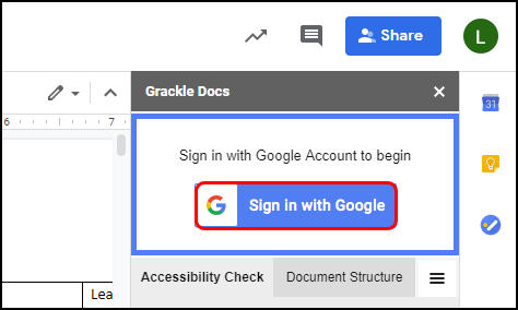 sign in to google