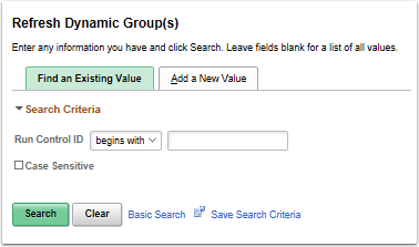 Refresh Dynamic Group(s) search page