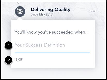 Image of Focus Skill Builder Success Statement form