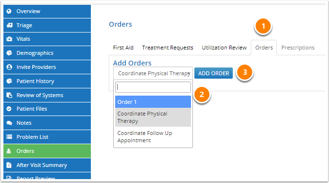 Select an Order
