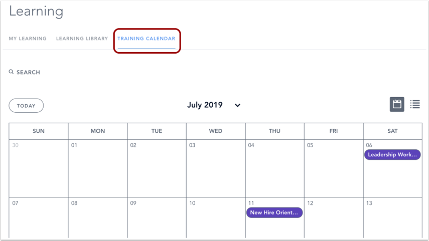View Live Training Calendar