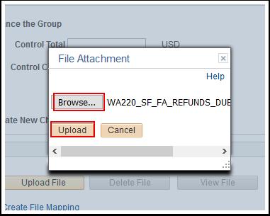 File Attachment window