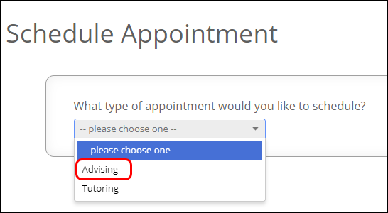 appointment type