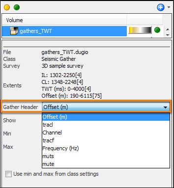 Gather volume display settings