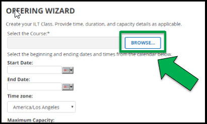 Green arrow pointing to Browse button.