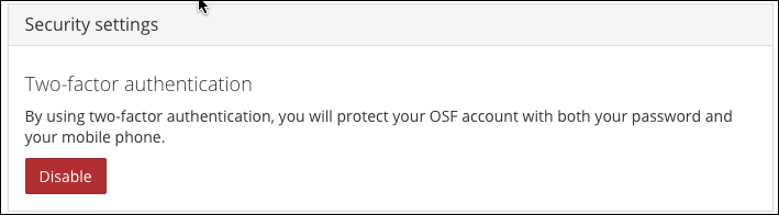 Confirmation of Two-Factor Authentication