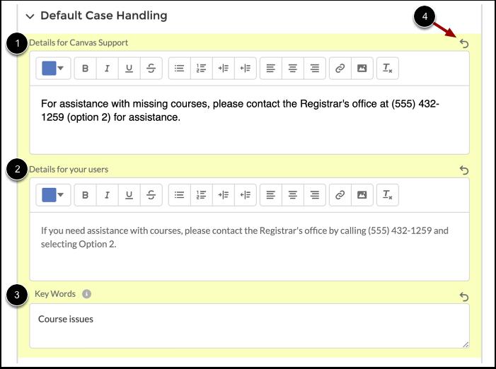 Enter Case Handling Details