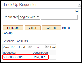 look up requester
