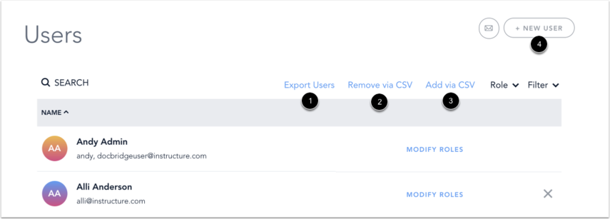 Manage Global Users