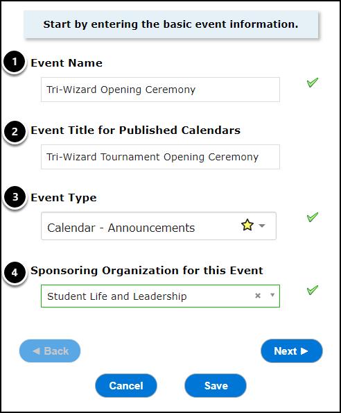Basic Event Info