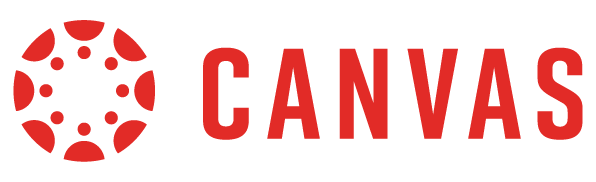 Canvas Logo with red circle and red Canvas lettering