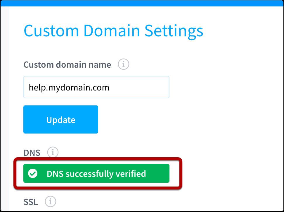DNS verified